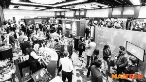 A group of people gathered at the 2018 Martech West Expo
